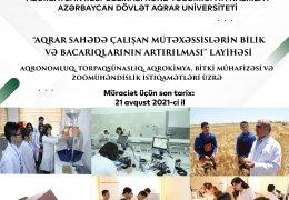 Aqrar Universitetdə növbəti ödənişsiz təkmilləşdirmə kurslarına qeydiyyat başlanıb